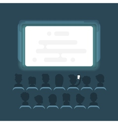 flat style of people watching movie vector image