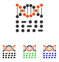 Genetic code flat icon vector