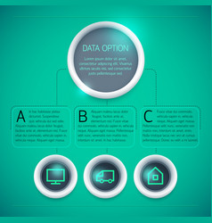 geometric business infographic template vector image