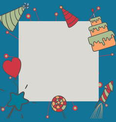 gift boxes happy birthday in square vector image