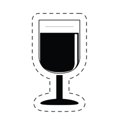 Glass cup wine beverage pictogram vector