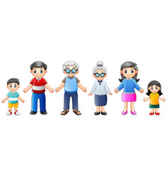 happy families cartoon vector image