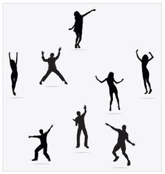 Healthy Young Active dance jumping people vector