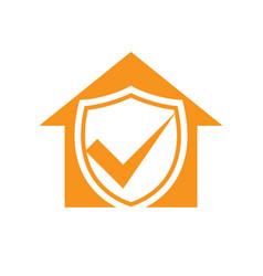 homeguard living insurance checkmark symbol design vector image
