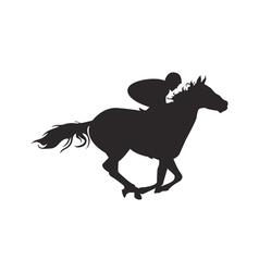 Horse silhouette contour vector
