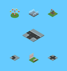 Isometric urban set of swing attraction aiming vector