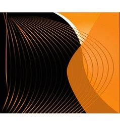 line wave design template vector image