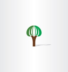 logo tree plant sign vector image