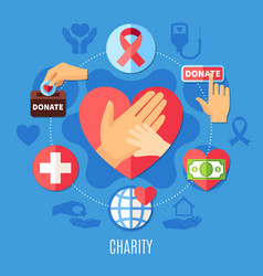 love charity round composition vector image