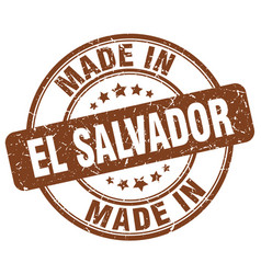 Made in el salvador brown grunge round stamp vector