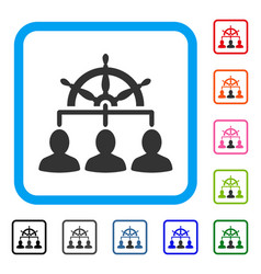 management steering wheel framed icon vector image