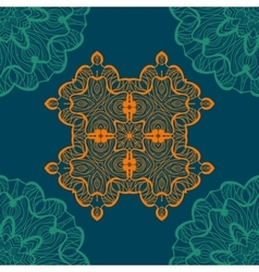Mandala-like open-work seamless texture Hand vector image