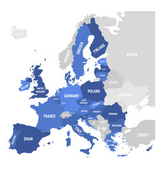 map of eu european union vector image