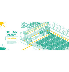 modern electricity solar plant facility building vector image