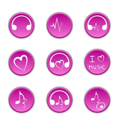 music theme icons vector image vector image