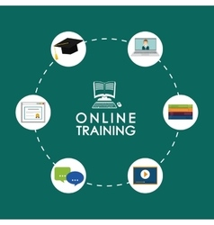 Online education and eLearning vector