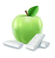 pads of bubble gum with green vector image