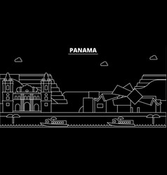 Panama silhouette skyline city panamanian vector
