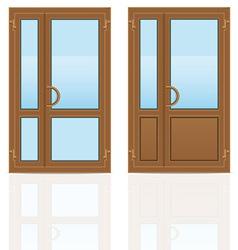 plastic doors 06 vector image