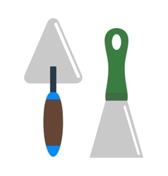 Putty knife worker equipment vector image