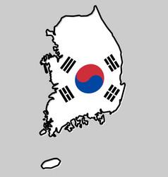 republic of south korea rok simplified map vector image