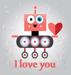 robot in love funny vector image