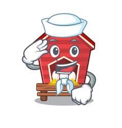 Sailor chicken coop isolated in mascot vector