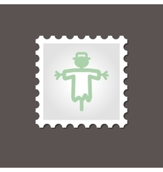 Scarecrow stamp Outline vector