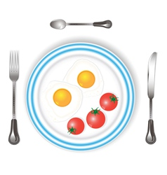 scrambled eggs vector image
