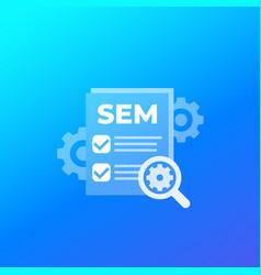 Sem search engine marketing icon vector