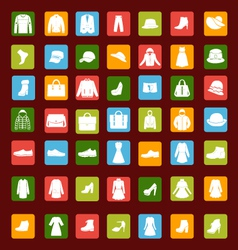 Set icon of men and women fashion clothing vector image