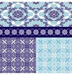 Set of seamless ottoman motifs bfckgrounds vector