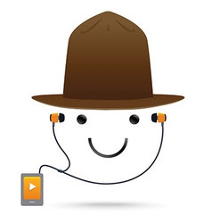 Smile Music Hat vector image