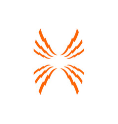 spider shape logo design eps 10 vector image