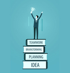 success in business winning achievement concept vector image