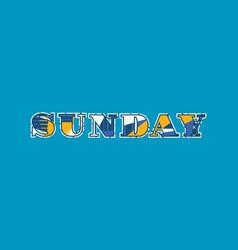 Sunday concept word art vector