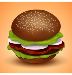 Tasty juicy burger vector
