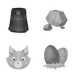 Travel animal and other monochrome icon in vector