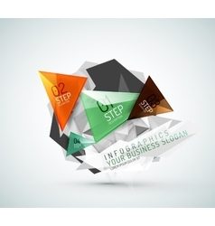 Triangle shape modern paper infographics vector image