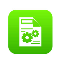 web setting icon digital green vector image