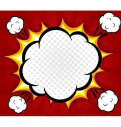 abstract boom blank speech bubble pop art vector image vector image