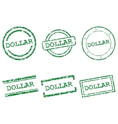 Dollar stamps vector image vector image