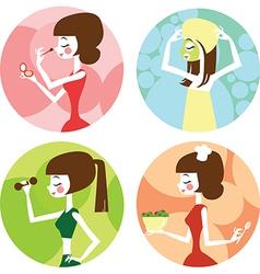 Female lifestyle vector image