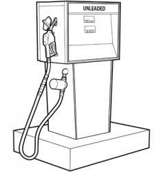 gas pump vector image