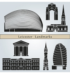 Leicester landmarks and monuments vector image vector image
