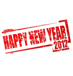 new year 2012 stamp vector image vector image