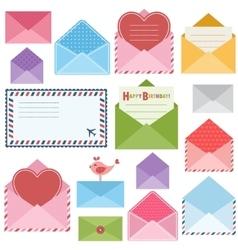 set of colorful envelopes vector image