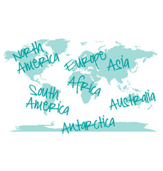 world map with continents world map with vector image