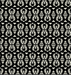 black lace seamless pattern on white background vector image
