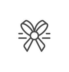 bow line icon vector image vector image